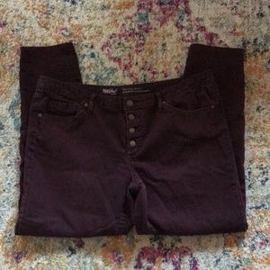 Mossimo  | Mid Rise Skinny Burgundy 16/33R
